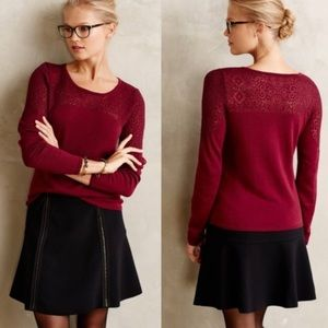 Anthro Knitted & Knotted Nettie Jacquard Sweater L